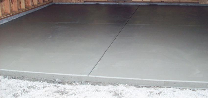 Самостоятельная заливка бетонного пола
